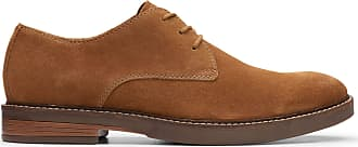 Clarks Paulson Plain Suede Shoes in Tan Standard Fit Size 10.5