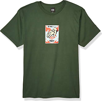 Obey Mens Mark Basic TEE, Forest Green, S
