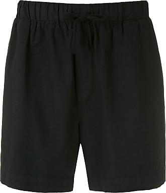 Osklen drawstring plain shorts - Black