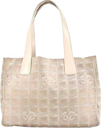 730e4d4e6c03 Chanel New Line Travel 215806 Metallic Pink Quilted Canvas Tote