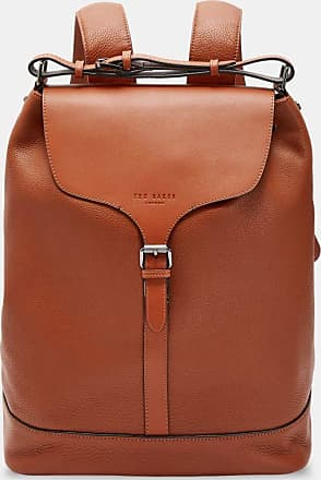 Ted Baker Leather Backpack in Tan RUSTED, Mens Accessories