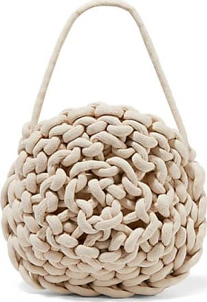 Alienina Ida Woven Cotton Shoulder Bag - Off-white