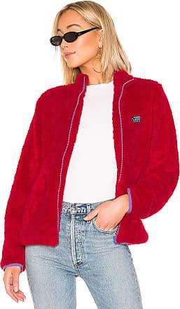 Stüssy Cruzer Sherpa Jacket in Red