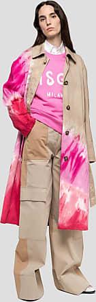Msgm trench coat in tie dye gabardine