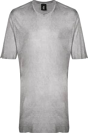 Thom Krom Camiseta longa lisa - Cinza