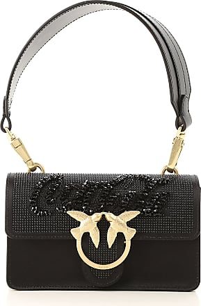 Pinko Top Handle Handbag On Sale, Black, satin, 2017, one size