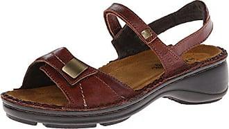 Naot Naot Womens Papaya Wedge Sandal, Luggage Brown Leather, 37 EU/6-6.5 M US