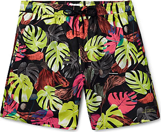 385445c38f Saturdays Surf NYC Wide-leg Mid-length Printed Swim Shorts - Black