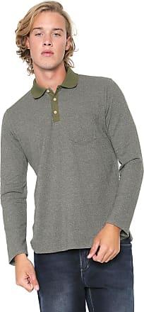 Malwee Camisa Polo Malwee Reta Bolso Verde
