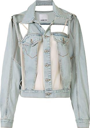 Ground-Zero Jaqueta jeans com recorte vazado - Azul