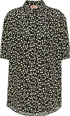 N°21 Bedruckte Bluse aus Seide