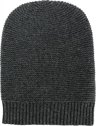 N.Peal knitted cashmere beanie - Grey