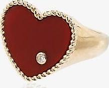 Yvonne Léon Womens Metallic 18k Yellow Gold Diamond Heart Ring