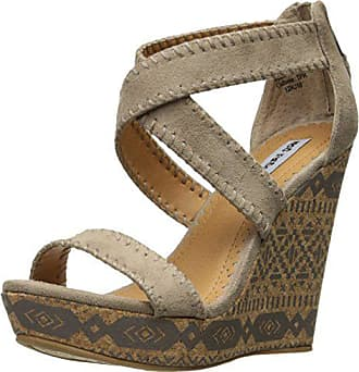 298e6f7c1 Not Rated Womens Remi Wedge Sandal Taupe 9 M US