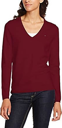 Tommy Hilfiger Damen Pullover New IVY V NK SWTR Rot