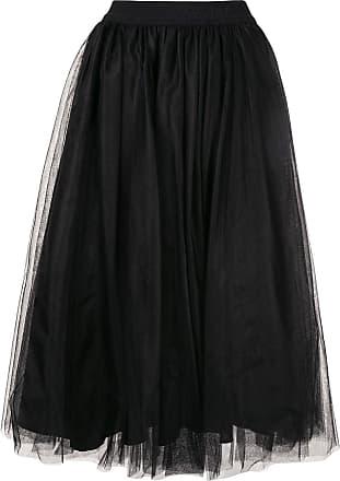 Msgm tulle midi skirt - Black