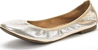 Dream Pairs Womens Slip On Round Toe Ballerina Ballet Flats Pumps Shoes Latte Gold Size 8.5 US/6.5 UK
