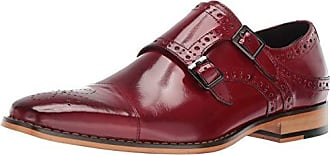 Stacy Adams Mens Tayton Cap Toe Double Monk Strap Loafer, red, 15 M US