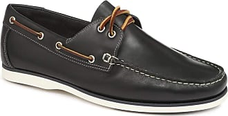 Jones Bootmaker Mens Admiral Leather Boat Shoes Rubber Sole Blue UK 9