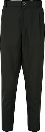 Yoshiokubo dropped crotch trousers - Black