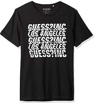 bf6da23e3cae9 Guess Mens Short Sleeve Basic Spliced Logo Crew T-Shirt