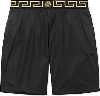 Versace Long-length Wide-leg Swim Shorts - Black