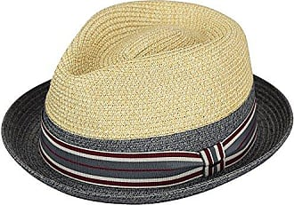 12725a142a756 Bailey Mens Rokit Braided Fedora Trilby Hat with Stripe Band