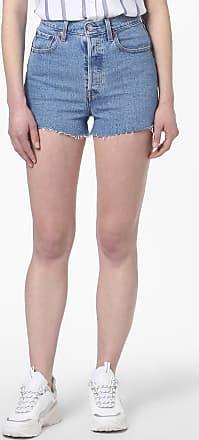 Levi's Damen Jeansshorts - Ribcage blau