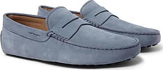 Tod's Gommino Suede Driving Shoes - Light blue