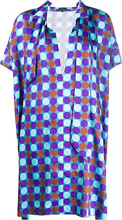 JEJIA Vestido reto com estampa geométrica - Azul