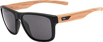 HB Óculos de Sol Hb H-bomb 9011273100/55 Preto Fosco com Efeito Amadeirado