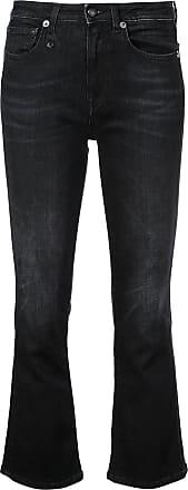 R13 classic bootcut jeans - Black
