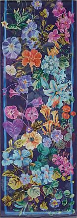Salvatore Ferragamo Women Silk floral print scarf Blue