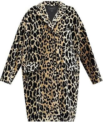 Giambattista Valli Leopard-jacquard Single-breasted Velvet Coat - Womens - Beige Multi