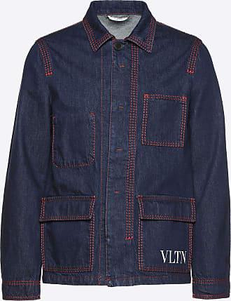 Valentino Valentino Uomo Vltn Denim Jacket Man Navy Cotton 100% 46