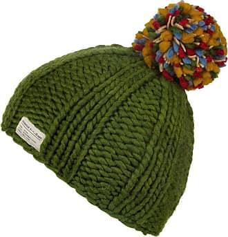 KuSan 100% Wool Bobble Beanie Hat PK1524 (Green)