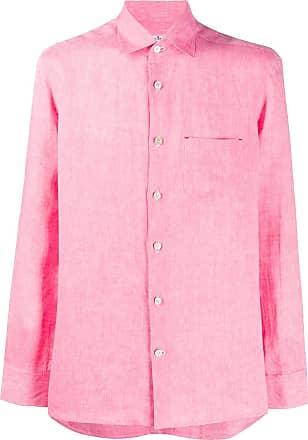 Kiton pointed collar linen shirt - PINK