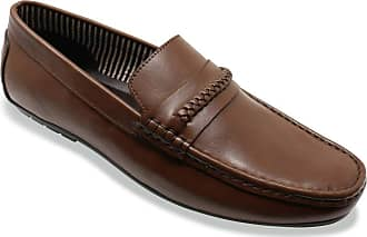 Chums Mens Leather Wide Fit Driving Shoe Brown 11 UK