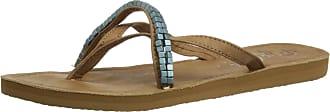 Rip Curl Womens Coco Thong Sandals TGTAL1 Tan/Blue 4 UK, 37 EU