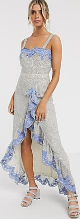 We Are Kindred argentina embroidered ruffle maxi dress-Blue