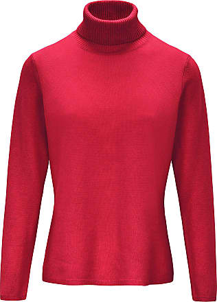 include Roll-neck jumper in pure new wool and cashmere include red