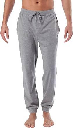 9cf2421cd1de3b HUGO BOSS Herren Schlafanzug Pyjamahose, Baumwolle, grau meliert