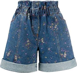 Philosophy di Lorenzo Serafini floral-print denim shorts - Blue