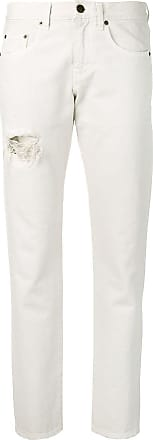 Saint Laurent distressed boyfriend jeans - White