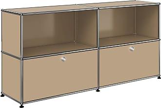 USM Haller Sideboard mit 2 Klapptüren - USM beige/152.3 x 74 x 37.3 cm/2 offene Fächer
