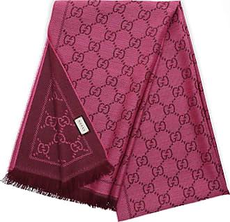 45542d6bde2ba Gucci Schal 3G200 Baumwolle Logo rosa braun