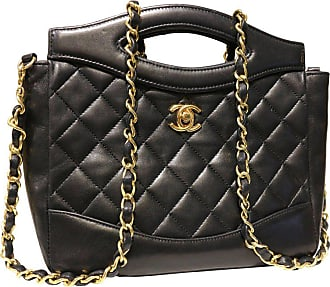 Chanel Classic Black Quilted Lambskin Leather Two Ways Shoulder Bag 780c6bbf95