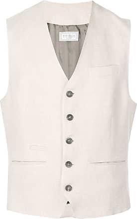Brunello Cucinelli button up vest - Neutro