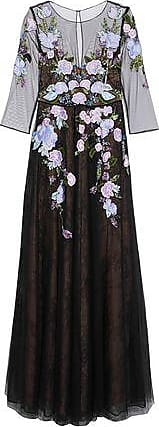 Marchesa Marchesa Notte Woman Embellished Tulle Gown Black Size 10