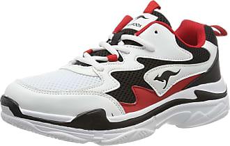 Kangaroos Womens Wave Low-Top Sneakers, Black (Jet Black/Red 5069), 5 UK